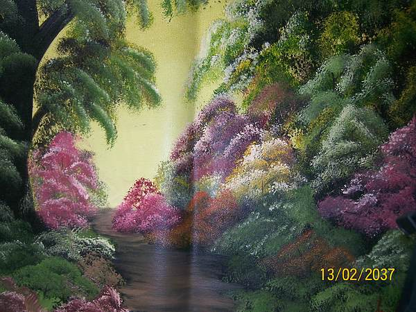 Landscape Painting - Peace Of Mind by Wafula Innocent