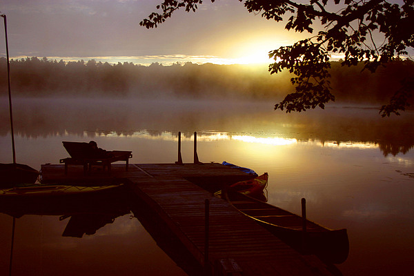 Lanscape Photograph - Peace On Lake by Dennis Curry