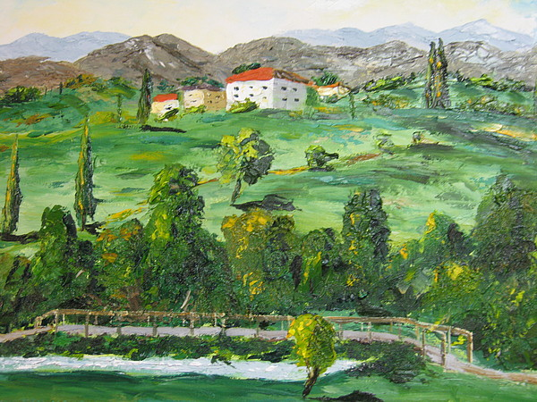 Landscape Painting - Peaceful Country by Brian Hustead