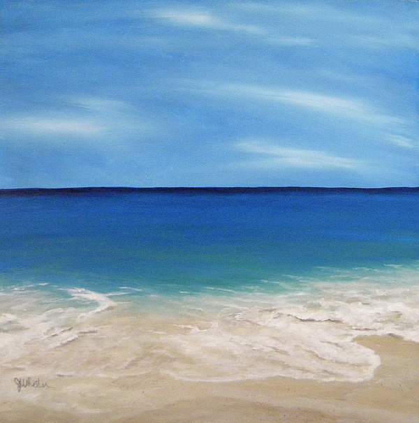 Beach Painting - Peaceful Sands by JoAnn Wheeler