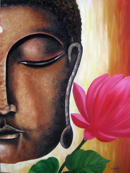 Figurative Painting - Peaceful by Usha Rai