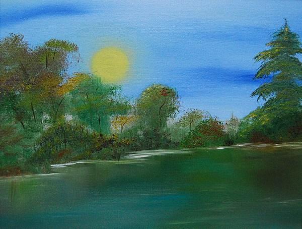 Peacful Lake Painting by Tina Haeger