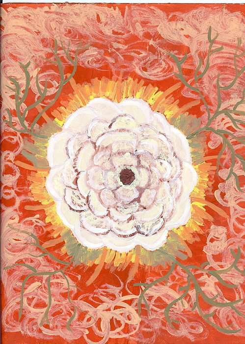 Flower Painting - Peaches And Cream by Laura Lillo