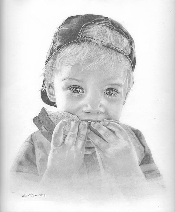 Child Drawing - Peanut Butter And Jelly by Sue Olson