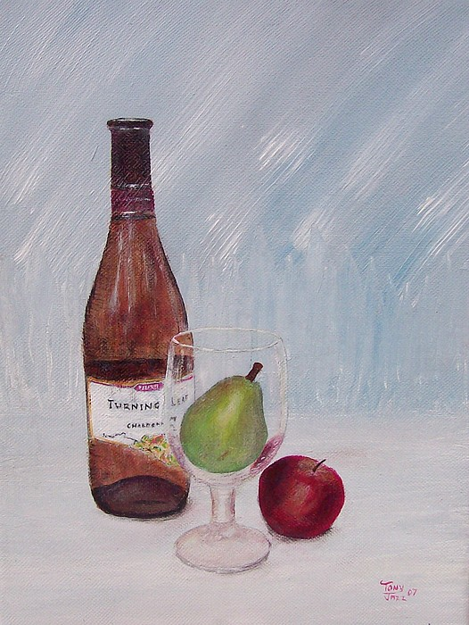 Still Life Painting - Pear In Glass by Tony Rodriguez
