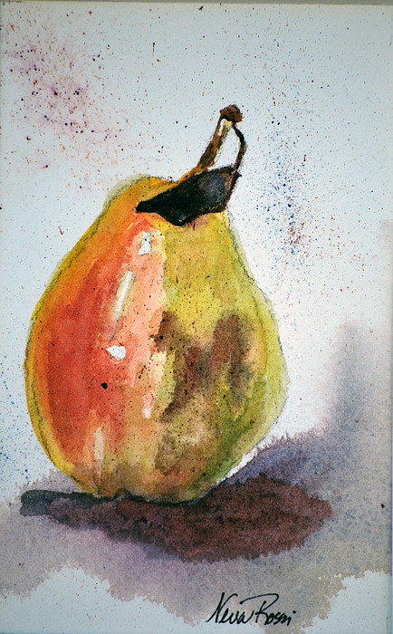 Pear Painting - Pear Study by Neva Rossi