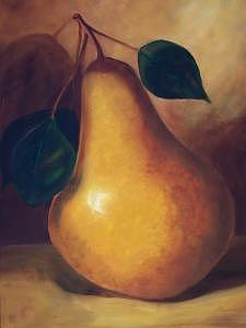 Pear Study  Sold Painting by Susan Dehlinger