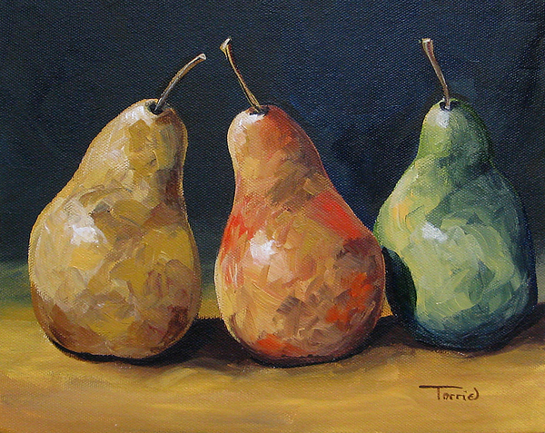 Pear Painting - Pear Trio  by Torrie Smiley