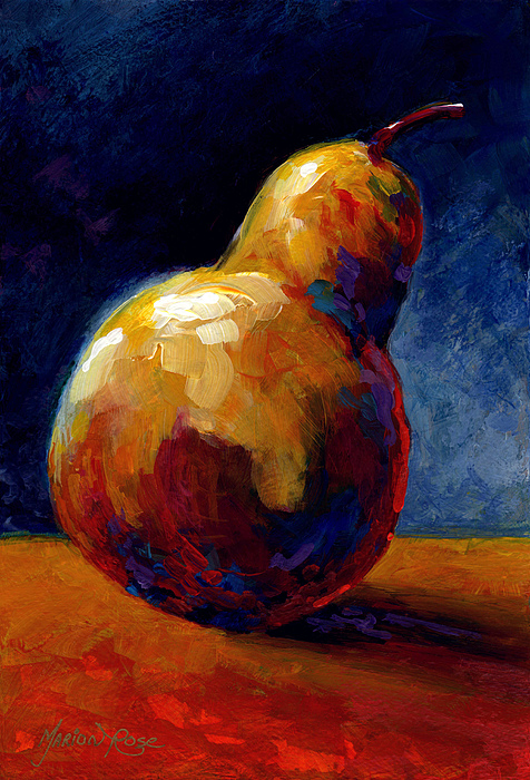 Pear Painting - Pearfect by Marion Rose