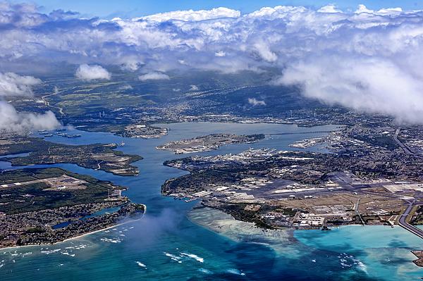 pearl Harbor Photograph - Pearl Harbor Aerial View by Dan McManus