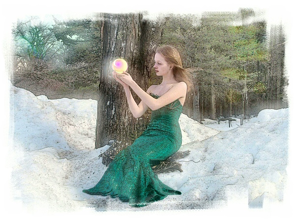 Young Woman Photograph - Pearl Of Light by Rose Guay