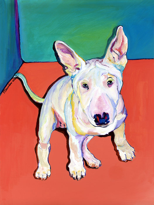 Pet Portrait Commissions Painting - Pearl by Pat Saunders-White