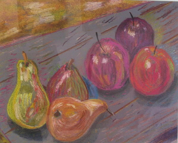 Fruit Painting - Pears And Apples by Samuel Silk