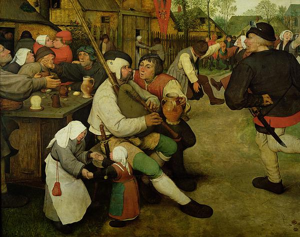 Peasant Painting - Peasant Dance by Pieter the Elder Bruegel