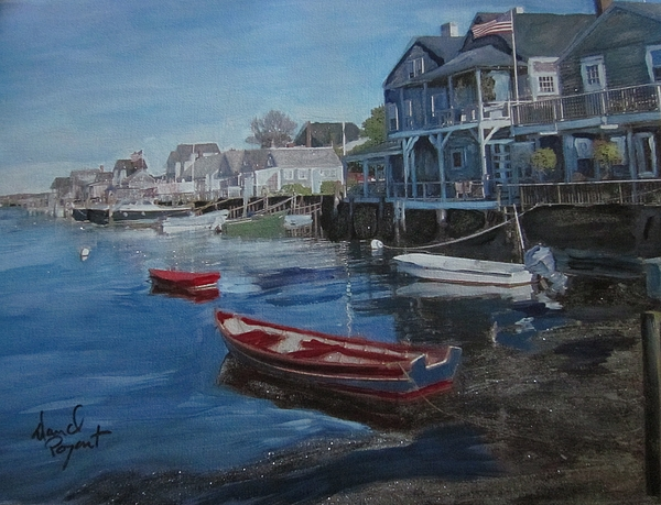Nantucket Painting - Peaseful Harbor by David Poyant