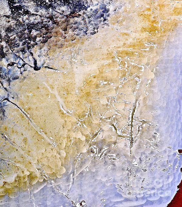Weathered Photograph - Peeling Paint And Pastels by Glennis Siverson