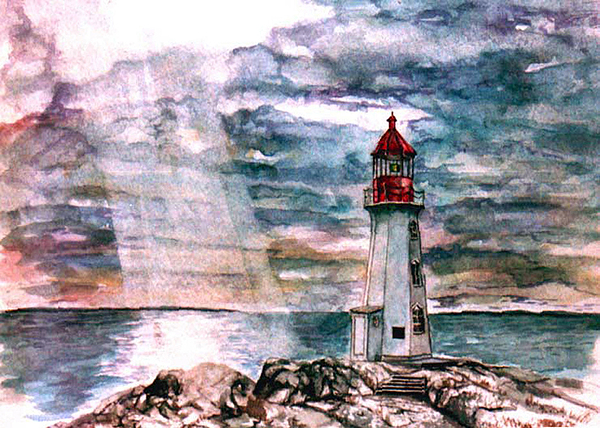 Peggy's Cove Painting - Peggys Cove by Paul Sandilands