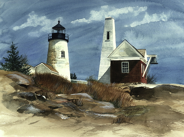 Pemaquid Point Lighthouse Painting - Pemaquid Point Lighthouse  by Nancy Patterson
