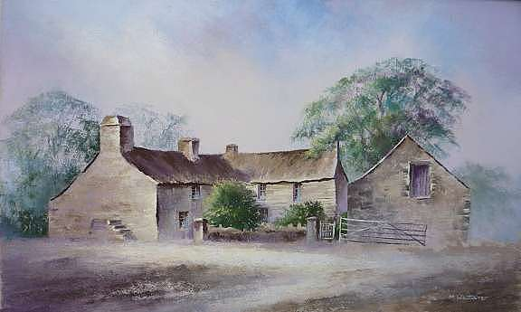Landscape Painting - Pembrokeshire Farm by Mark Whittaker