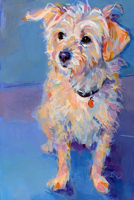 Terrier Painting - Penny Peach by Kimberly Santini