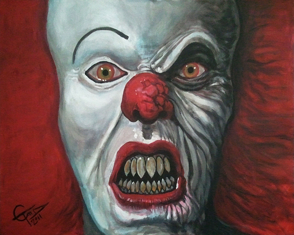 Pennywise Painting - Pennywise by Tom Carlton