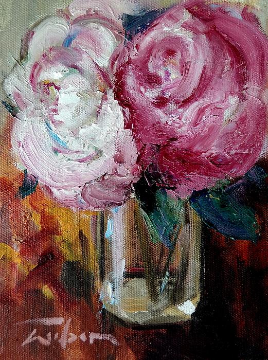 Peonies Painting - Peonies by Ron Wilson