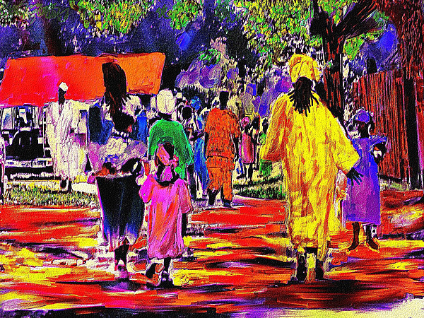 People Of The Village Mixed Media by Jae Gregory