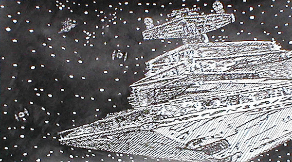Imperial Star Destroyer Drawing - Pepare For Battle by Beth Parrish