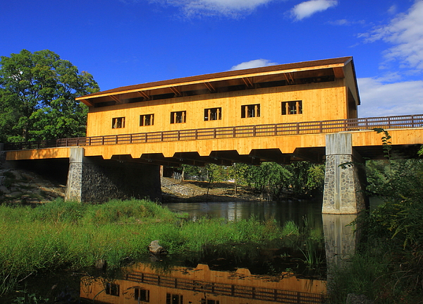 Pepperell MA Covered Bridge Poster by picsforyou2000