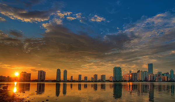 Miami Photograph - Perfect Sunset by William Wetmore