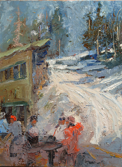 Snowscape Painting - Perfecto -sold by Bryan Alexander