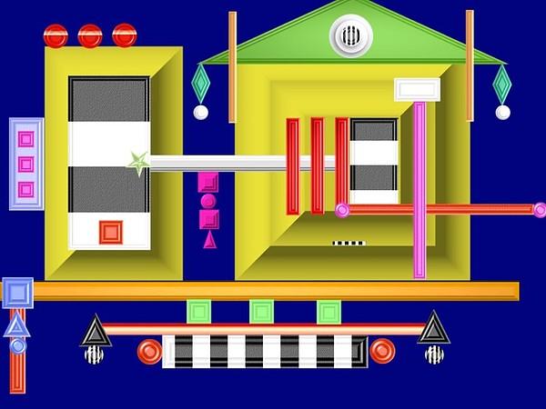Geometric Digital Art - Perimeters by Sandie Smith