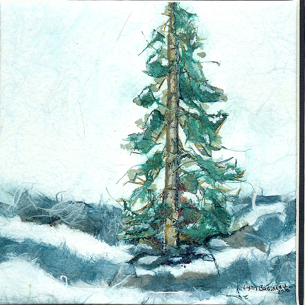 Tree Painting - Perseverance Equals Character by Lynn Babineau