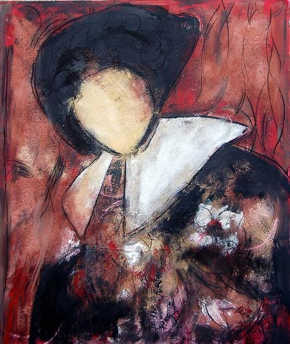 Men Painting - Personaje Con Capa by Soledad Fernandez