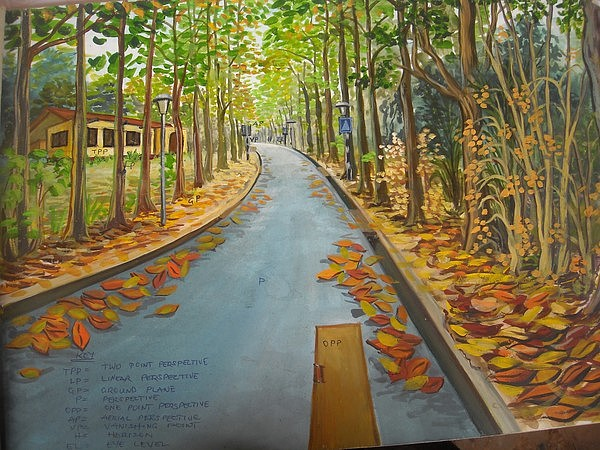 Landscape Painting - Perspective by Sylvester Banahene