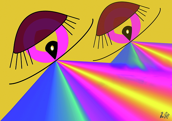 Eye Digital Art - Perspektive by Helmut Rottler