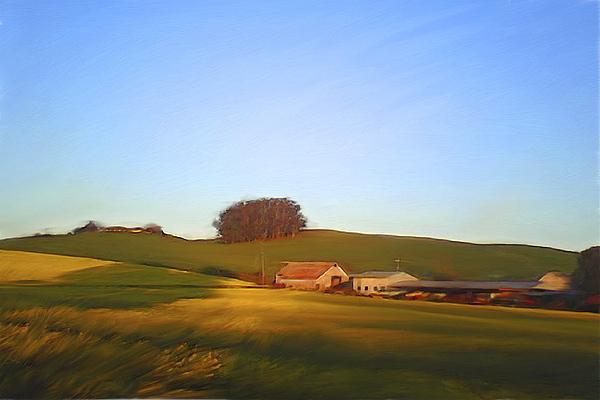 Landscape Painting - Petaluma Farmhouse by Thomas  Hansen