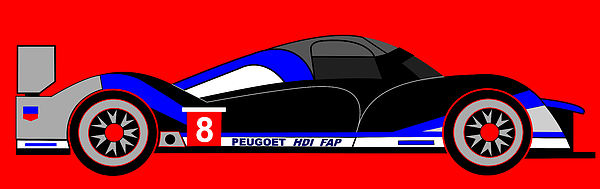Peugeot 908 Digital Art - Peugeot 908 Hdi Sat - No. 8 by Asbjorn Lonvig