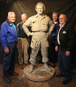 Soldier Statue Sculpture - Pfc. Emory L. Bennett Korean Medal Of Honor Winner Memorial by Tom White
