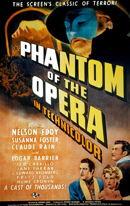 1940s Movies Photograph - Phantom Of The Opera, Claude Rains by Everett