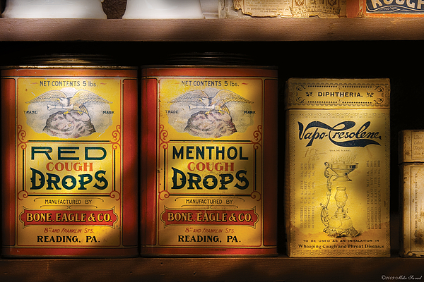 Savad Photograph - Pharmacy - Cough Drops by Mike Savad