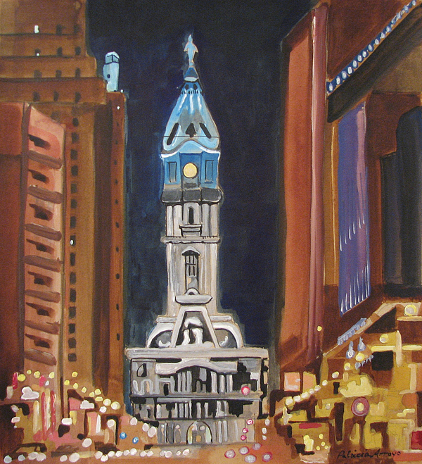 Landmarks Painting - Philadelphia City Hall by Patricia Arroyo