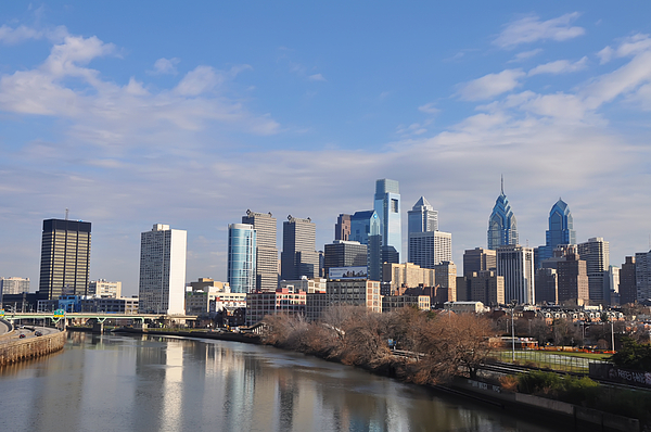 Philadelphia Photograph - Philadelphia From The South Street Bridge by Bill Cannon