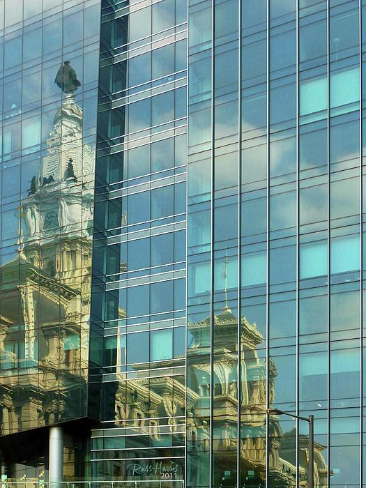 Sky Photograph - Philadelphia Reflections by Russ Harris