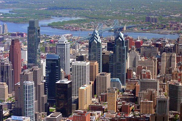 Philadelphia Photograph - Philadelphia Skyscrapers by Duncan Pearson