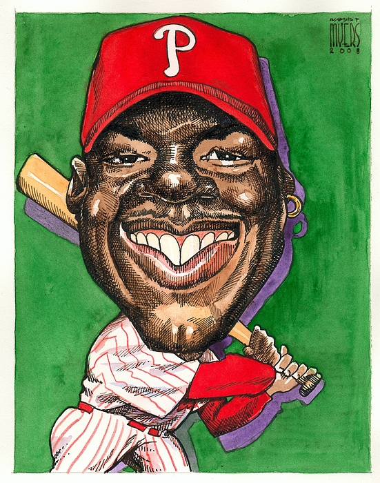 Sports Art Painting - Phillies by Robert  Myers