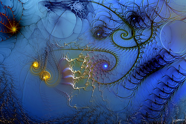 Abstract Digital Art - Philosophical Ventriloquism by Casey Kotas