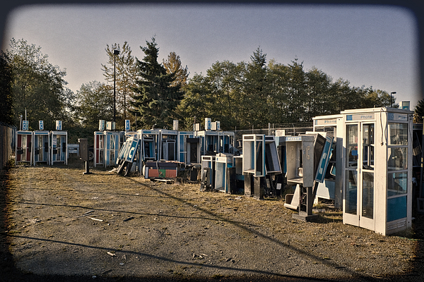 Telephone Photograph - Phone Booth Graveyard by Kelley King