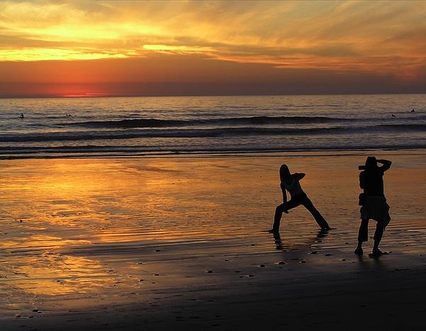 Photo Shoot At Sunset Photograph by Chuck Cannova