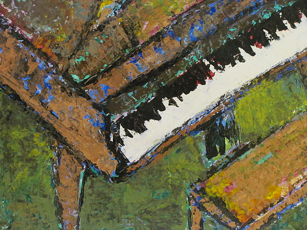 Piano Painting - Piano Close Up 1 by Anita Burgermeister